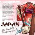 japanese origami kimono koto and samisen vector image
