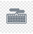 keyboard concept linear icon isolated on vector image