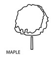 maple tree icon outline style vector image vector image
