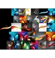 Mega collection of abstract backgrounds vector image vector image