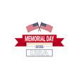 memorial day usa greeting card wallpaper national vector image vector image