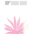 minimal cover design vector image vector image