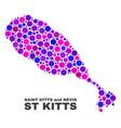 mosaic st kitts island map of circle dots vector image vector image