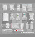 ollection polypropylene plastic packaging and vector image