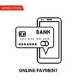 online payment icon thin line vector image vector image