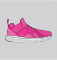 pink shoes sport design vector image
