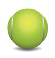 Realistic Tennis Ball Isolated on White vector image vector image