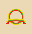 ribbon and circle with flag of lithuania vector image vector image