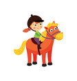 rider horse girl vector image vector image