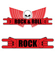 Rock and roll logo Rock hand sign and wings Logo vector image