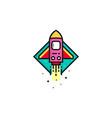 rocket logo template rocket logo concept vector image vector image