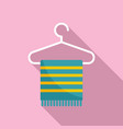 room service towel hanger icon flat style vector image vector image