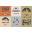 Set of Badges Logos and Sign Break Dance vector image