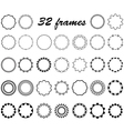 set of round and circular empty frames vector image vector image