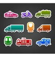 Set of stickers transport color symbols vector image vector image