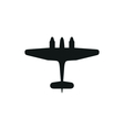 simple black icon airplane on white background vector image vector image