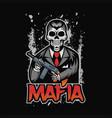 skull mafia vector image