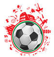 soccer ball with italian symbol vector image vector image