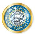 south dakota flag button vector image vector image