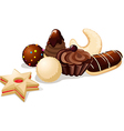 still life with christmas cookies - on white vector image vector image