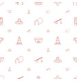 street icons pattern seamless white background vector image vector image