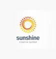 sunshine creative symbol concept sunlight vector image