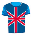 t-shirt flag united kingdom vector image vector image