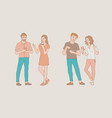 talking people set with male vector image vector image