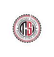 ts initial logo inspirationsvintage badge logo vector image vector image