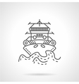 Tugboat thin line icon vector image vector image
