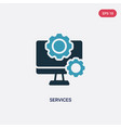 two color services icon from technology concept vector image