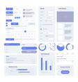 ui kit user layout elements for web design vector image