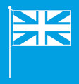 uk flag icon white vector image vector image