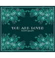 you are loved vector image vector image