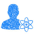 physicist science grunge icon vector image