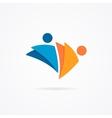 Abstract human logo vector image