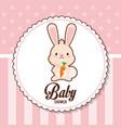 baby shower card invitation birth vector image