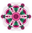 0 floral mandala vector image