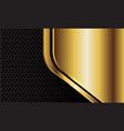 abstract gold plate geometric black circle mesh vector image vector image