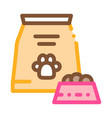 animal feed icon outline vector image
