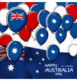 australia day design of flag and balloon vector image vector image