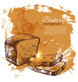 Bakery sketch background vector image vector image