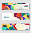 banner abstract web template vector image vector image
