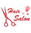 barbershop red symbol vector image vector image