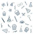 birthday pattern background vector image
