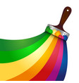 brush with paint symbol vector image vector image