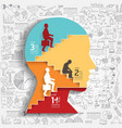 businessman up ladder paper cut style vector image vector image