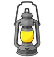 cartoon old lantern vector image vector image