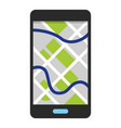 cellphone showing map vector image vector image