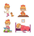 child collection of activities vector image